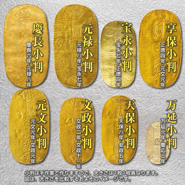 慶長小判~万延小判の一覧のイメージ