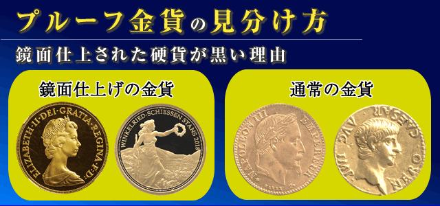 プルーフ金貨の見分け方