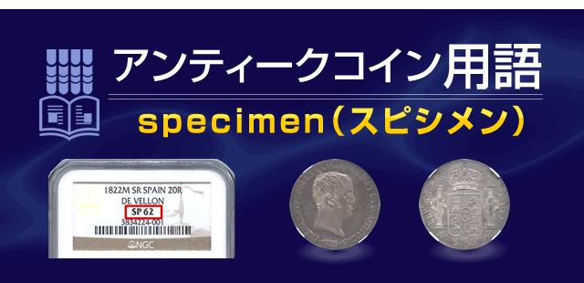specimen【アンティークコイン用語】