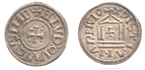 デニエ銀貨 ルイ1世