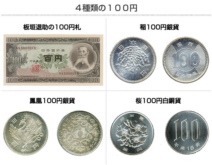 4種類の100円