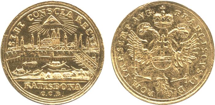 マウント痕のあるコイン