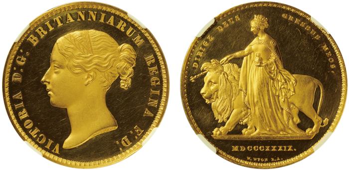 ウナとライオン5ポンド金貨