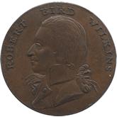 イギリス ハンプシャー ニューポート 1/2ペニー銅貨[EF]