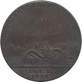 イギリス ウォリックシャー バーミンガム 1ペニー銅貨【裏面】