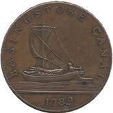 イギリス ハンプシャー ベイジングストーク 1シリング銅貨 ベイジングストーク運河[UNC]