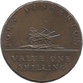 イギリス ハンプシャー ベイジングストーク 1シリング銅貨 ベイジングストーク運河[UNC]【裏面】