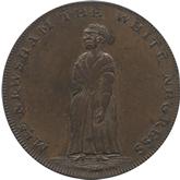 イギリス ミドルセックス 1/2ペニー銅貨[EF]