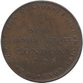 イギリス ミドルセックス 1/2ペニー銅貨[EF]【裏面】