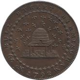 イギリス ノッティンガムシャー 1/2ペニー銅貨[UNC]