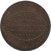 イギリス ノッティンガムシャー 1/2ペニー銅貨[UNC]【裏面】