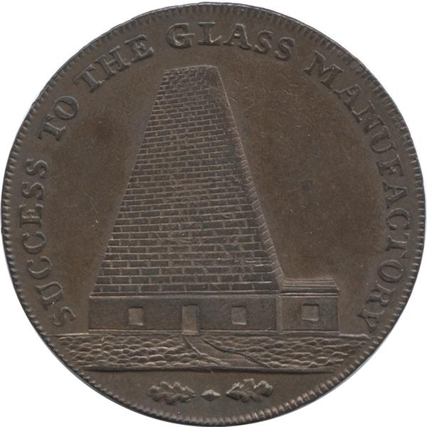 サマセット・ブリストル 1/2ペニー銅貨(表面)