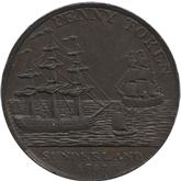 イギリス ダラム・サンダーランド 1ペニー銅貨[EF]【裏面】