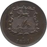 英領北ボルネオ 1/2セント銅貨[FDC]