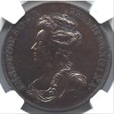 イギリス アン王位継承記念銅メダル[UNC]