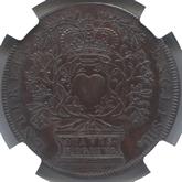 イギリス アン王位継承記念銅メダル[UNC]【裏面】