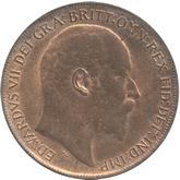 イギリス エドワード7世 1ペニー銅貨[UNC]