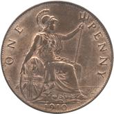 イギリス エドワード7世 1ペニー銅貨[UNC]【裏面】