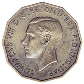 イギリス エドワード8世   3ペンス真鍮