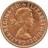 イギリス ハーフペニー銅貨[FDC]【表面】