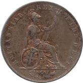 イギリス ジョージ4世 1/2ペニー銅貨[UNC]【裏面】