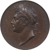 イギリス ジョージ4世  戴冠銅メダル[UNC]