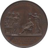 イギリス ジョージ4世  戴冠銅メダル[UNC]【裏面】