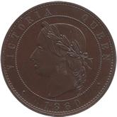 イギリス ヴィクトリア女王  1ペニー・パターン銅貨 ヤング[PF FDC]