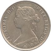 イギリス ヴィクトリア女王 1/2ペニー白銅打ち貨[UNC]