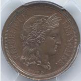 フランス  セレス 1フラン試作銅貨[FDC]
