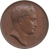 フランス ナポレオン1世 レヒ橋にての訓示記念  銅メダル[AU/UNC]