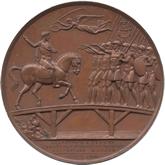 フランス ナポレオン1世 レヒ橋にての訓示記念  銅メダル[AU/UNC]【裏面】