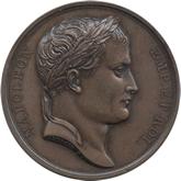 フランス ナポレオン1世 大陸軍記念碑銅メダル[EF+/UNC]