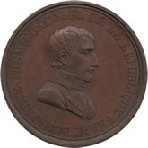 フランス ナポレオン・ボナパルト リュネヴィル講和条約記念銅メダル[AU/UNC]
