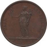 フランス ナポレオン・ボナパルト リュネヴィル講和条約記念銅メダル[AU/UNC]【裏面】