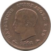 イタリア ナポレオン王国 3センテシミ銅貨[EF+]