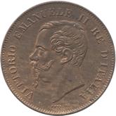 イタリア王国 ヴィットリオ・エマヌエル2世 5センテシミ銅貨[UNC]
