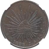 メキシコ 8レアル・パターン銅貨[PL FDC]