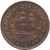南アフリカ ジョージ6世 1/2ペニー銅貨[PF FDC]【裏面】