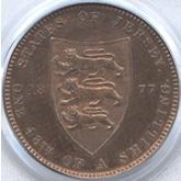 ジャージー ヴィクトリア 1/48シリング銅貨[PF FDC]【裏面】