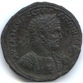 帝政ローマ トラキア地方 銅メダル  カラカラ胸像[EF]