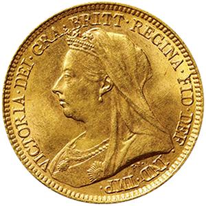 イギリス ヴィクトリア  1/2ソボレン金貨[UNC]