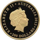 オーストラリア 200ドル金貨 オペラハウス[PF FDC]【裏面】