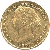オーストラリア ヴィクトリア 1ソボレン金貨[VF]