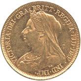 オーストラリア ヴィクトリア 1/2ソボレン金貨[-EF]