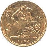 オーストラリア ヴィクトリア 1/2ソボレン金貨[-EF]【裏面】