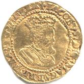 イギリス ジェームズ1世  ハーフクラウン金貨[VF]