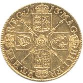 イギリス アン  1ギニー金貨[EF]【裏面】