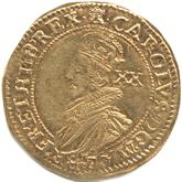 イギリス チャールズ1世  ユナイト金貨[VF]