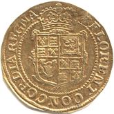 イギリス チャールズ1世  ユナイト金貨[VF]【裏面】